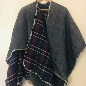 Reversible Open-Front Cape